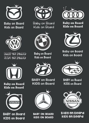 Baby On Board Car Sticker Decal. All Vehicle Types . AU STOCK.