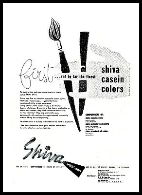1950 Shiva Casein Colors Artists Chicago Illinois vintage Print Ad (ADL2)