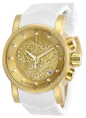 Invicta 28189 S1 Rally Men's 48mm Chronograph Gold-Tone Gold Dial Rubber Watch