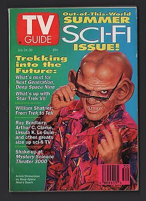 TV Guide Deep Space 9 Quark Cover - July 24-30, 1993 Issue 24 Deep Return