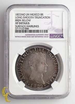 1822 Mexico 8 Reales Graded XF DETAILS By NGC Silver Coin, KM# 308