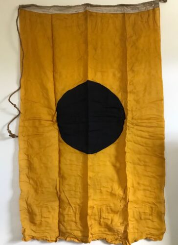 "Antique Linen Gold & 17"" Blue Dot US Yacht Flag  With Old"