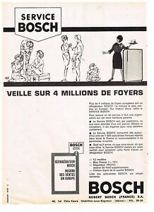 publicite advertising 1963 bosch service r frig rateur ebay. Black Bedroom Furniture Sets. Home Design Ideas