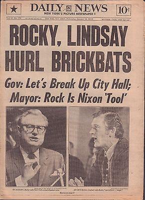 Daily News January 19 1972 Rocky, Lindsay Hurl Brickbats 010917DBE