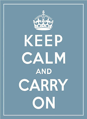 KEEP CALM AND CARRY ON A4 POSTER (Keep Calm And Carry On Poster)