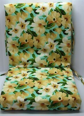 Outdoor Patio Chair Cushion ~ Disco Floral ~ 21 x 43.5 x 4.25 **NEW** Outdoor Painted Chair