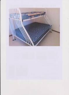 Bunk bed with matresses double lower bunk