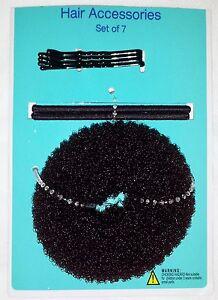 Brown-Bun-Maker-Four-Bobby-Pins-And-Two-Hair-Elastics-Hair-Accessory-Kit