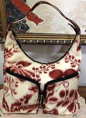 Vintage Women's Gucci Hobo Bag handbag Made in Italy Canvas 001-8380 212937