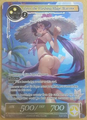 Force Of Will Zero, The Flashing Mage Warrior RL 1607-1 TCG CCG Promo