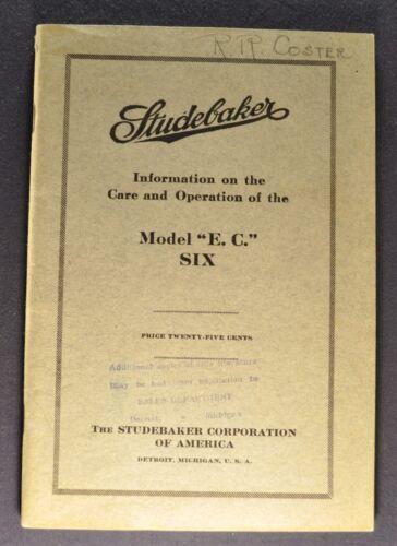 1915 Studebaker Six Model EC Owner