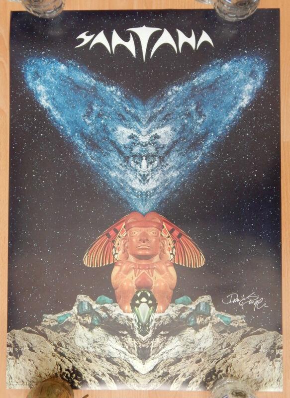 SANTANA UNUSED 1977 FESTIVAL LP COVER POSTER 20x28 AUTOGRAPH DAVID SINGER ARTIST