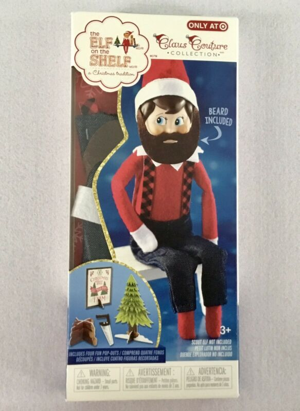 THE ELF ON THE SHELF SCOUT DOLL CLAUS COUTURE LITTLE LUMBERJACK LAD OUTFIT NEW