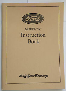 New 1929 Ford Model A Car Instruction Manual Owners Guide Operator Book