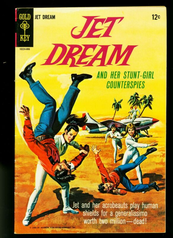 Jet Dream Comics #1 1968- Stunt Girl- Gold Key Silver Age- FN