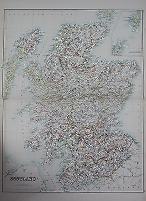 1897 SCOTLAND WITH ORKNEY AND SHETLANDS LARGE MAP