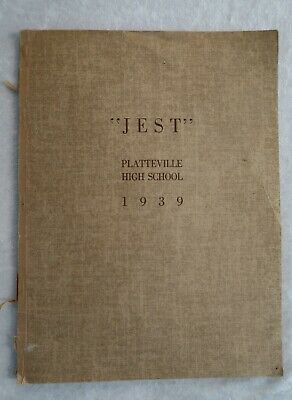 """1939 Yearbook Platteville High School Colorado """"The Jest"""" Sepia Tone Photos"""