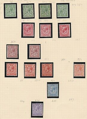 Lot:38953  GB George V  1912-22 Definative issue   unused selection