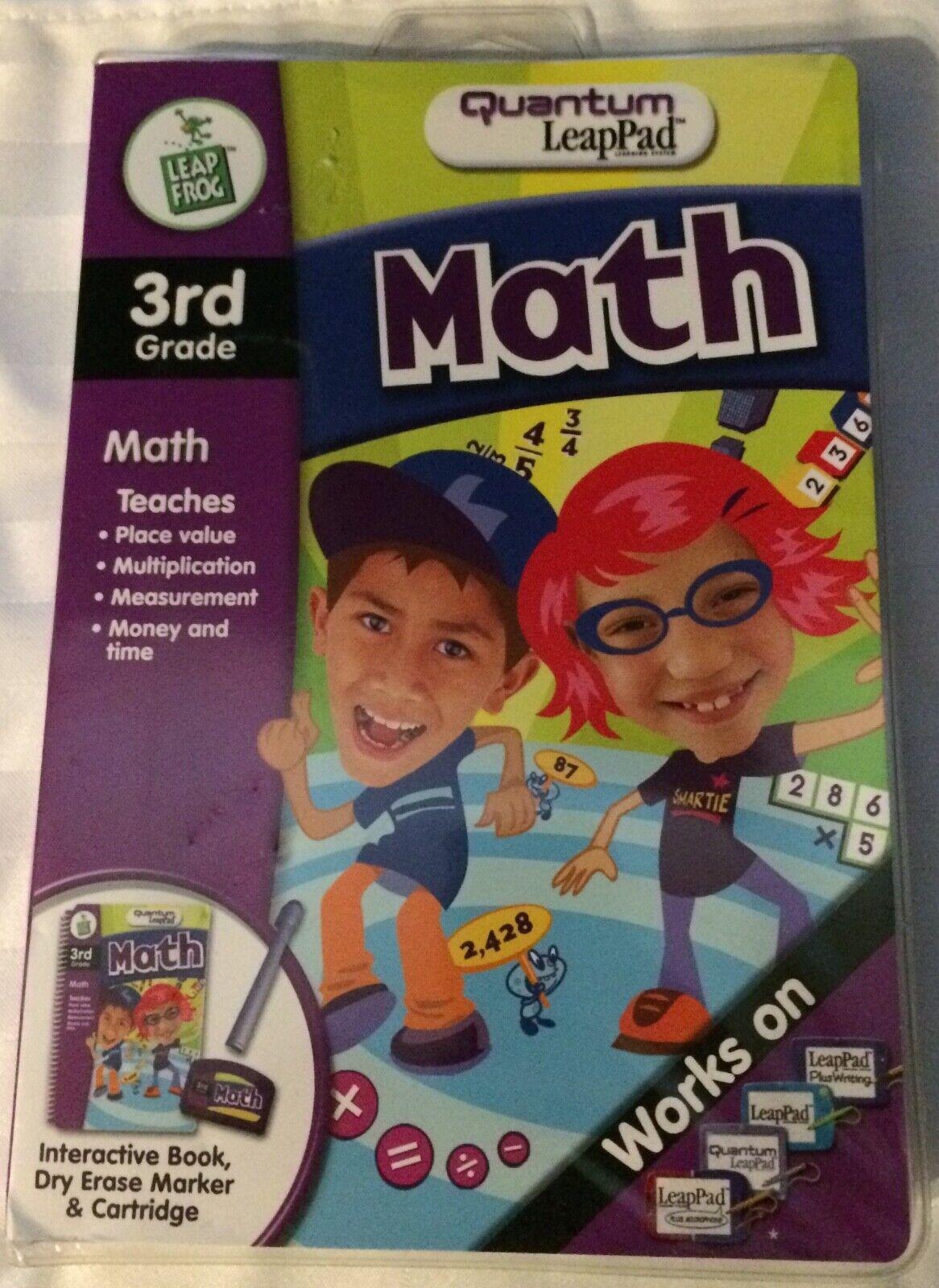 Leap~Frog Quantum LeapPad Math Interactive Book Dry Erase Ma