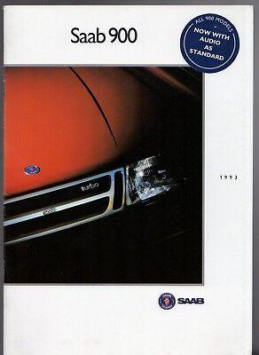 Saab 900 1992-93 UK Market Sales Brochure Convertible Aero Turbo 16S S SE i16 for sale  United Kingdom