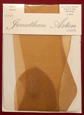 Jonathan Aston Ultra Sheer Stockings Seam Heel Natural Size B