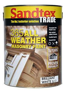 Sandtex Trade 365 All Weather Masonry Paint 5lt Brilliant