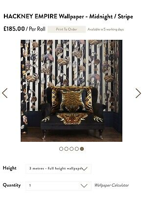 "2x *new* Rolls - House Of Hackney ""Midnight Stripe"" Wallpaper"