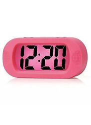 Easy to Set, Plumeet Large Digital LCD Travel Alarm Clock with Snooze Good Night
