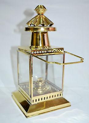 Vintage Brass Cargo Ship Railroad Oil Kerosene Burner Lantern Home Decor Lamp