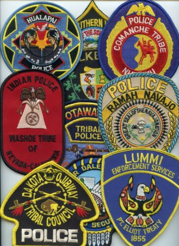 INDIAN TRIBE Patch Lot 10 Police Patches GROUP #E TRIBAL POLICE PATCH