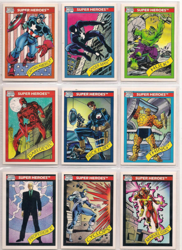 1990 MARVEL UNIVERSE SERIES 1 COMPLETE 162 CARD SET NM FREE SHIPPING!!!!