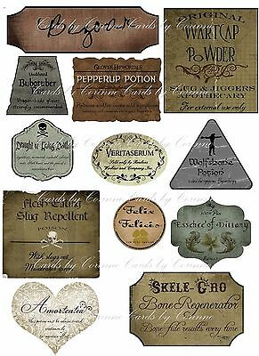Harry Potter Halloween 12 potion assorted label stickers scrapbooking crafts