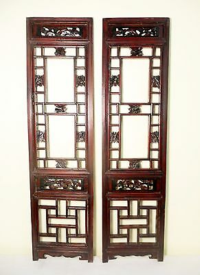 Antique Chinese Screen Panels (5331) (Pair) Cunninghamia wood, Circa 1800-1849