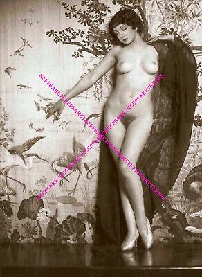 ACTRESS CLAUDETTE COLBERT STUNNING 1920s NUDE NOUVEAU DECO PHOTO A-CCOL3