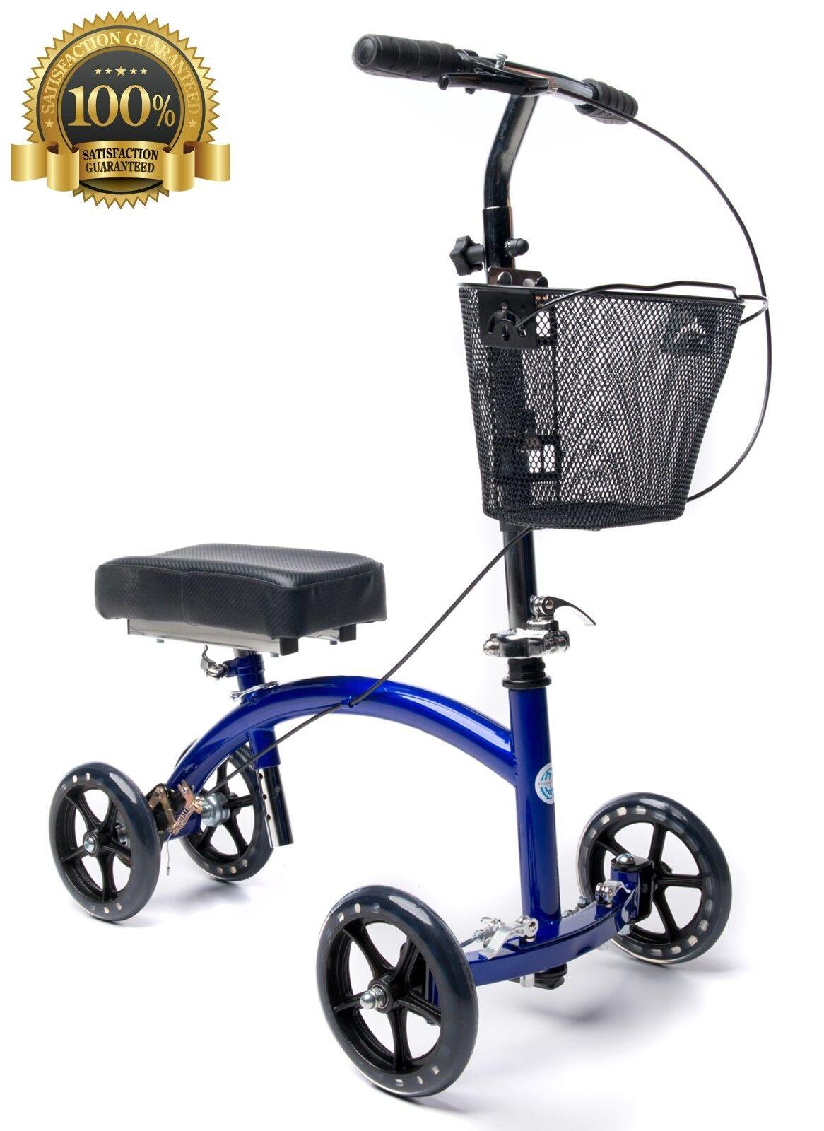 KneeRover Deluxe Steerable Knee Cycle Knee Walker  Scooter C