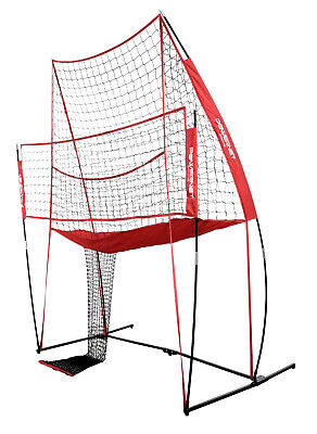 PowerNet Volleyball Practice Net | 8' W x 11' H | Ball Return | Hitting Station