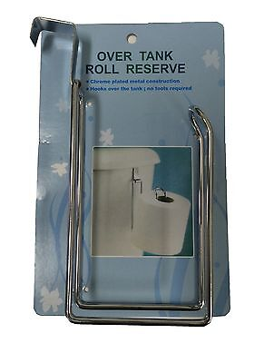 RESERVE TOILET PAPER HOLDER Over The Tank Hanging Metal Tissue Roll Storage  ()