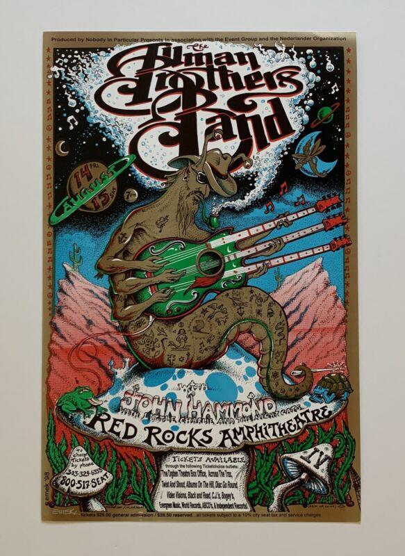 Emek Allman Brothers Band John Hammond Original 1998 Concert Poster Signed