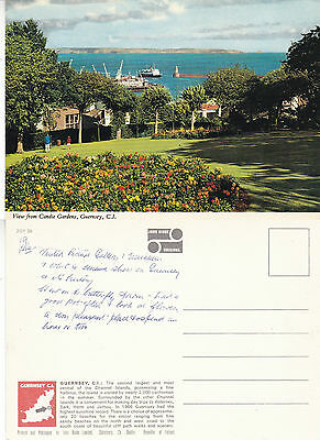 1980's VIEW FROM CANDLE GARDENS GUERNSEY CHANNEL ISLANDS COLOUR POSTCARD b