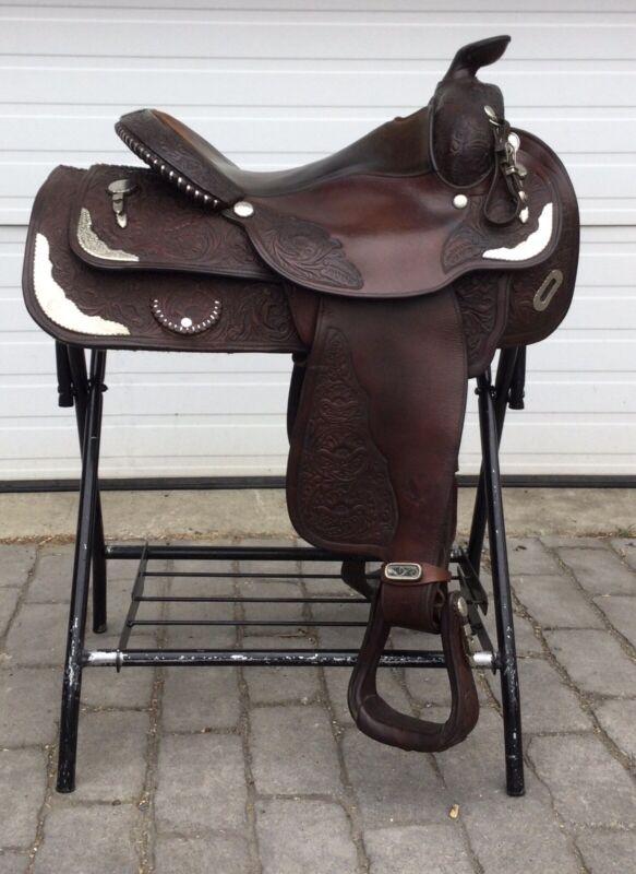"""Circle Y Equitation 15.5"""" Western Show Saddle"""