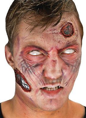 3D ZOMBIE WALKING DEAD APPLIANCE COMPLETE COSTUME MAKEUP KIT CSFX3D01 (Walking Dead Makeup)