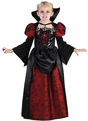 Kinderfaschingskostüm Königin der Vampire Gr. 140/152 Mädchen Halloween (Kostüme Der Vampire)