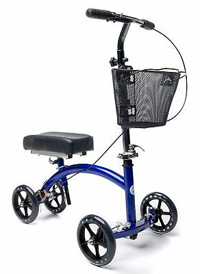 Scooter Knee Cycle Walker Leg Foot Deluxe Steerable Crutch A