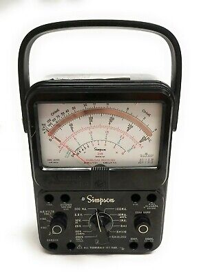 Simpson 260 Series 8p Analog Volt Ohm Milliammeter Vom Overload Protection