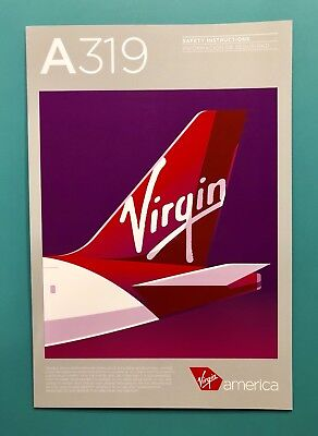 Dec 2017 Virgin America Safety Card  Airbus 319 Rev  4