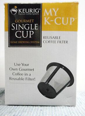Gourmet-single (KEURIG GOURMET SINGLE CUP Reusable Coffee Filter MY K-CUP NEW NIB)
