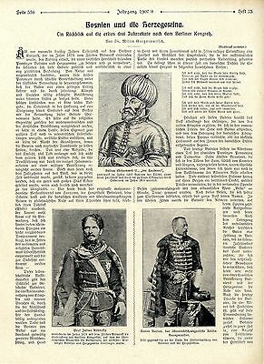 Dr. M. Gregorowitsch Bosnien u.d. Herzgowina türkischer Sultan Abdul-Hamid 1908