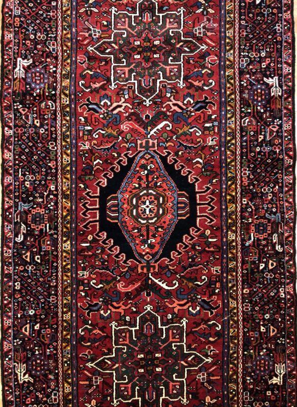 Handsome Heriz - 1920s Antique Persian Rug - Tribal Oriental Carpet - 2.9 X 10.8