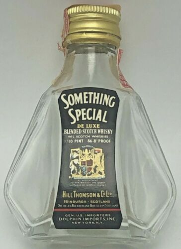 Vintage Something Special Scotch Whisky Miniature Bottle 1/10 Pint Empty