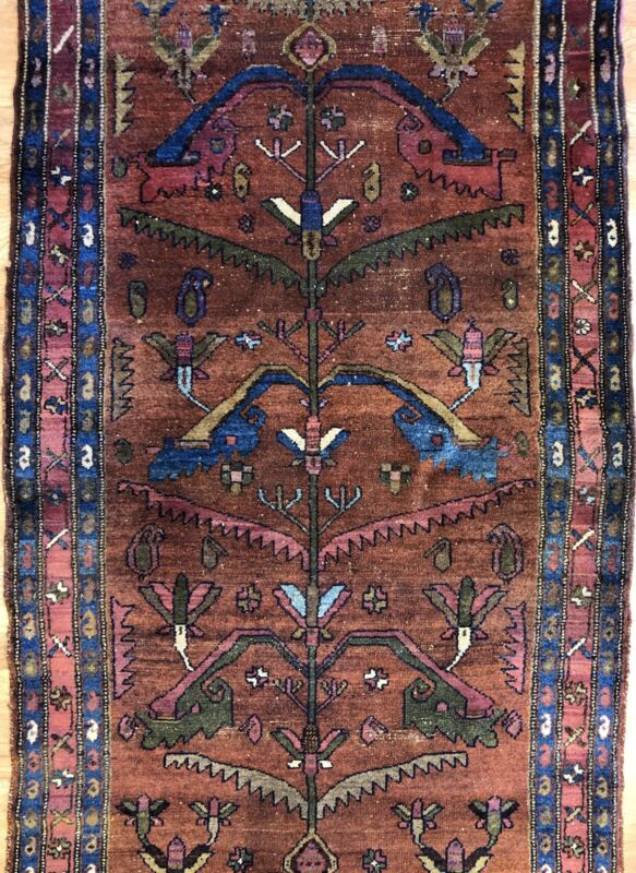 Tremendous Tribal - 1930s Antique Oriental Rug - Nomadic Carpet - 3.7 X 7.7 Ft.